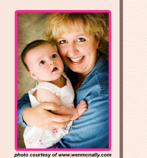 Photo of Connie Barrow with her newborn daughter courtesy of www.wenmcnally.com