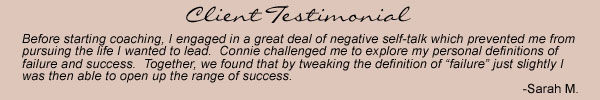 Client Testimonial for Fertile Possibilities Life Coaching